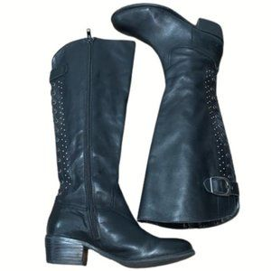 Arturo Chiang Knee High Boots Black Size 6.5